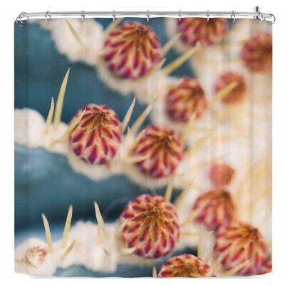 Ann Barnes Barrel Cactus Blooms Shower Curtain