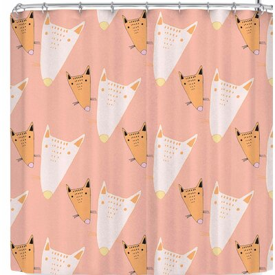 Vasare Nar Fox Cute Nursery Kids Pastel Shower Curtain