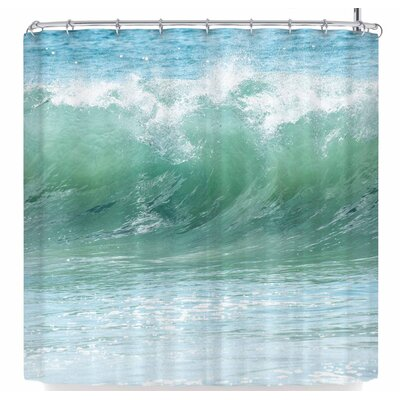 Ann Barnes Aqua Crash Shower Curtain