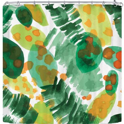 Billington Tropical Plants Leaves Shower Curtain