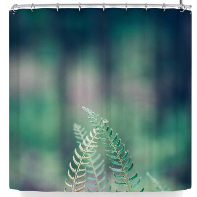 Ann Barnes Forest Ferns Shower Curtain