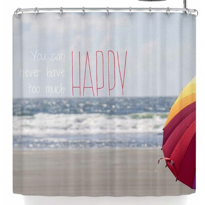Robin Dickinson Too Much Happy Shower Curtain