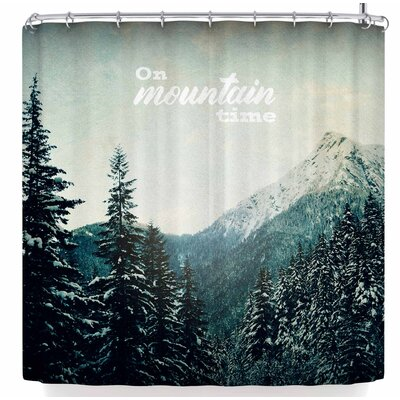 Robin Dickinson On Mountain Time Shower Curtain