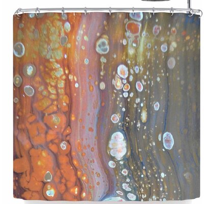 Carol Schiff Liquid Bues Shower Curtain
