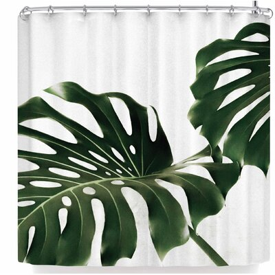 Ann Barnes Minimalist Monstera Shower Curtain