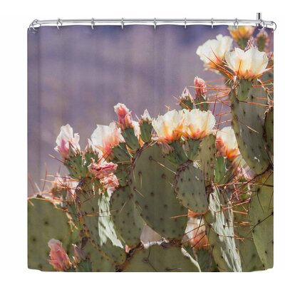 Ann Barnes Prickly Pear Blooms Shower Curtain
