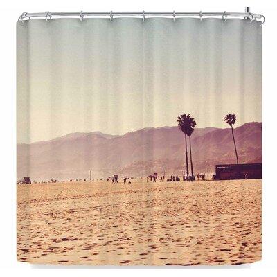 Ann Barnes Vintage Santa Monica Shower Curtain