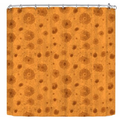 Elena Ivan - Papadopoulou Geometric Flowers Aroma Shower Curtain