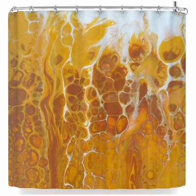 Carol Schiff Golden Flames Shower Curtain