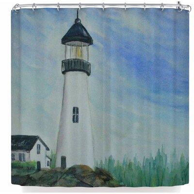 Cyndi Steen Fernsten Lighthouse Shower Curtain