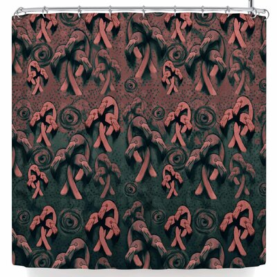 Elena Ivan - Papadopoulou Flamingo Fairytale Version 3 Shower Curtain