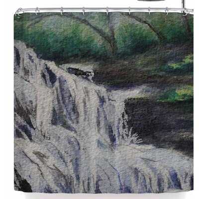 Cyndi Steen Justins Falls Shower Curtain
