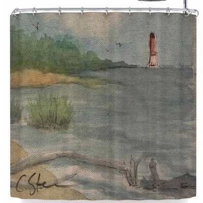 Cyndi Steen Abate Coastal Shower Curtain