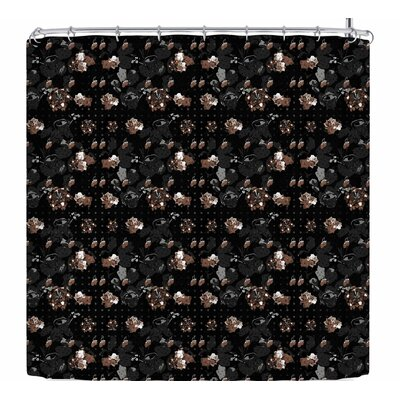 Elena Ivan - Papadopoulou Floral Series Goldy Shower Curtain