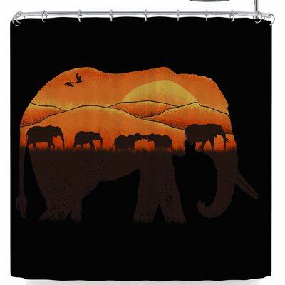 Eikwox African Elephant Shower Curtain