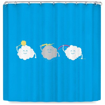 Eikwox Cloud War Shower Curtain