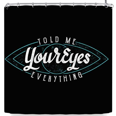 Eikwox Behind Eyes Shower Curtain