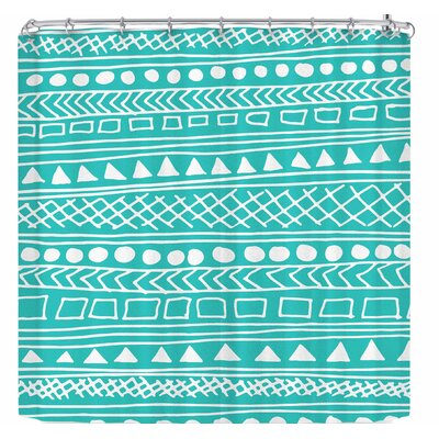 Fimbis Redefined Turquoise Shower Curtain