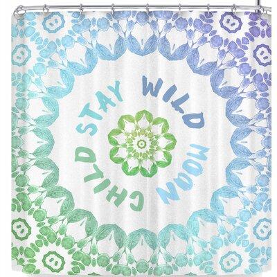 Alison Coxon Stay Wild Moon Child Shower Curtain
