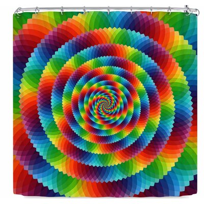 Ancello Rainbow Spectrum Spirograph Shower Curtain