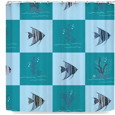 Afe Images Angelfish Shower Curtain