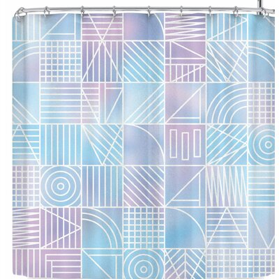 Fimbis Cloudy Geometric Shower Curtain