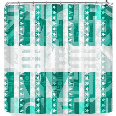 Fimbis Star Stripes Shower Curtain