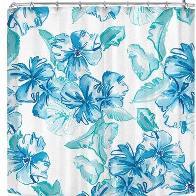 Danii Pollehn Icy Flowers Shower Curtain