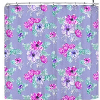 Danii Pollehn Pastel Anemone Flower Meadow Shower Curtain