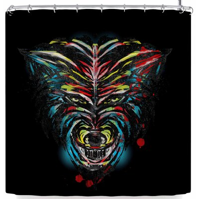 Frederic Levy-Hadida Wild Wolf Shower Curtain