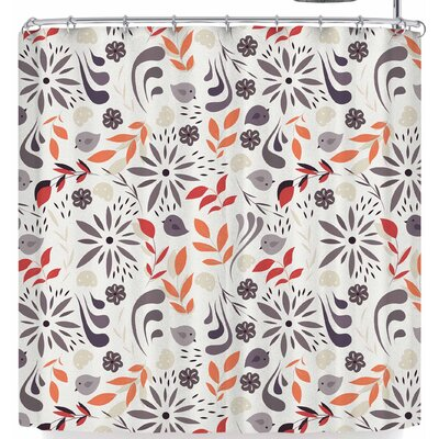 Bluelela Flowers and Birds 002 Shower Curtain