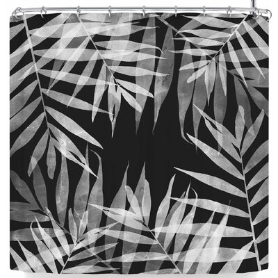 Cafelab Bw Tropicana Theme Shower Curtain