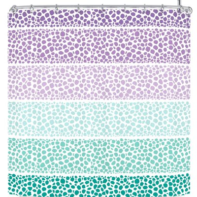 Pom Graphic Design Riverside Pebbles Colored Shower Curtain