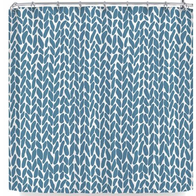 Project M Hand Knit Shower Curtain Color: Dark Blue