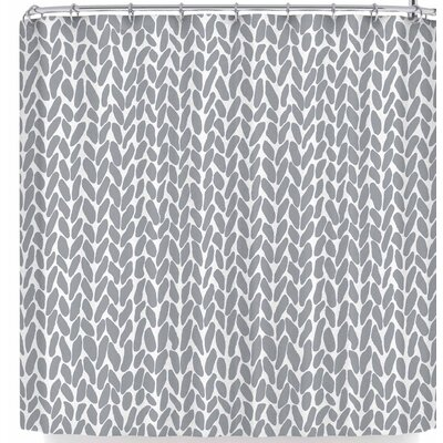 Project M Hand Knit Shower Curtain Color: Gray
