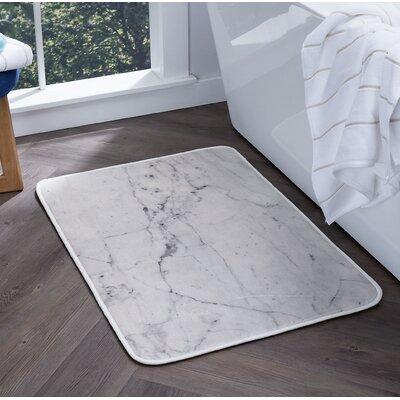 Knepp Marble Foam Core Bath Rug Size: 24 W x 36 L