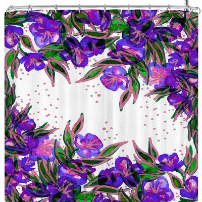Ebi Emporium Morning Glory 3 Shower Curtain Color: Purple