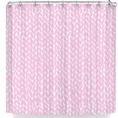 Project M Hand Knit Shower Curtain Color: Pink