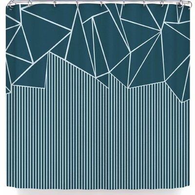 Project M Ab Lines Salt Shower Curtain Color: Dark Blue