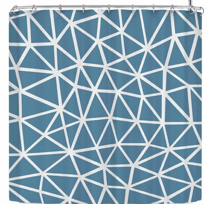 Project M Segment and Shower Curtain Color: Blue/White