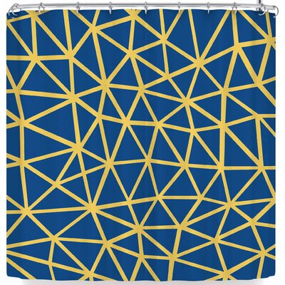 Project M Segment and Shower Curtain Color: Blue/Yellow