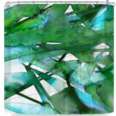 Ebi Emporium Guiding Lights 6 Shower Curtain Color: Green
