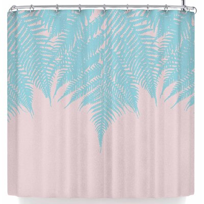 Project M Fern Shower Curtain Color: Pink/Green