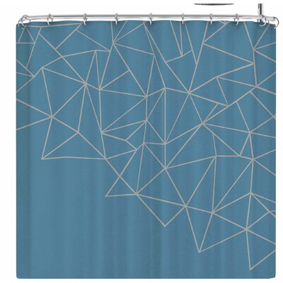 Project M Ab Storm Shower Curtain Color: Blue/Gray