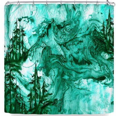 Ebi Emporium Anything Worth Having Aqua Shower Curtain Color: Green