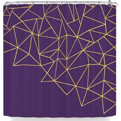 Project M Ab Storm Shower Curtain Color: Purple