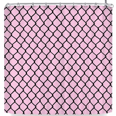 Project M Chain Link Shower Curtain Color: Pink/Black