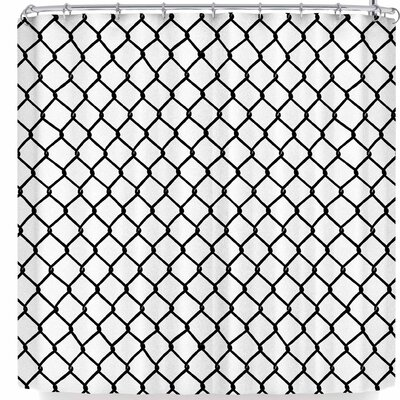 Project M Chain Link Shower Curtain Color: White/Black