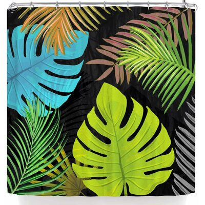 Pia Schneider Tropical Leaves Shower Curtain
