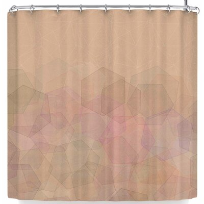 Pia Schneider Hazelnut & Hexagonal Shower Curtain Color: Beige
